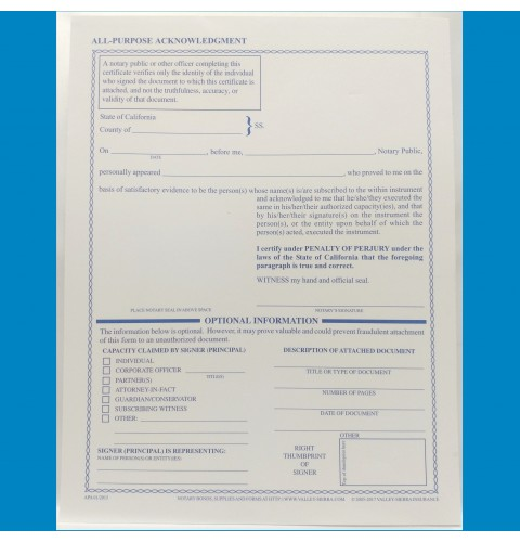 2015 Acknowledgement Forms