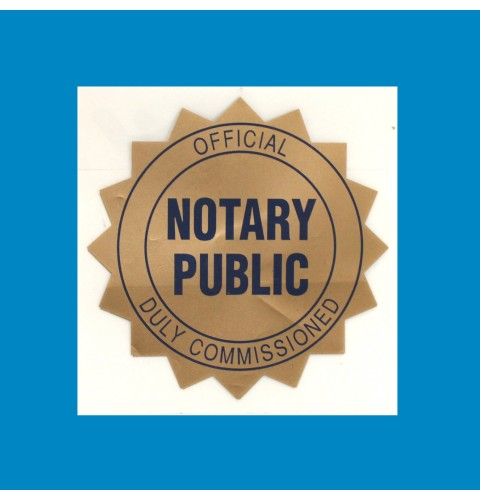 Notary Decal
